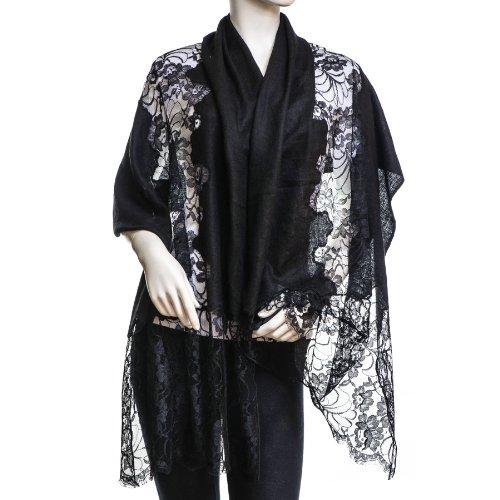 Charming & Chic - Châle Femme Noir - Noir