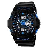 22mm Heiße Mann Sport Uhr Militär LED Quarz Armbanduhren Digital und Analoger Multifunktionsalarm passt neues 0955 auf