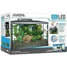 Marina Kit de Acuario con Iluminación LED 10G, ...