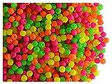 4gr (about 300 stk) Tschechische glasperlen gepresst ESTRELA NEON (UV aktiv) rund 2mm Warm Neon Mix