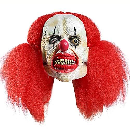 (Cdet 1x Horror Maske Halloween Neuheit Latex Horror Spuk Kopf Masken Cosplay Karneval Maskerade Kostüm (Gro?er Skorpion Clown))