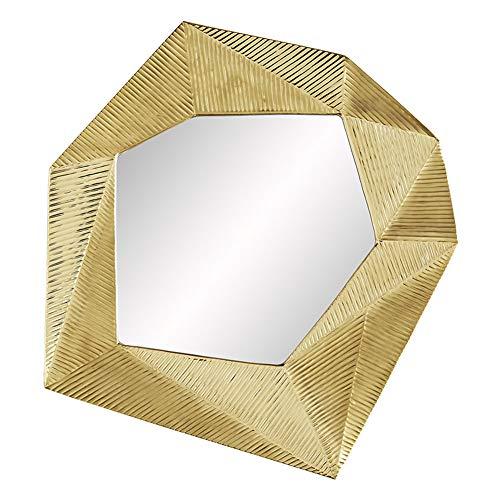 Dekorativer Spiegel des Wohnzimmerportals, kreativer Wandbehangspiegel des Hintergrundwandmodells, der Spiegelkaminspiegel speist