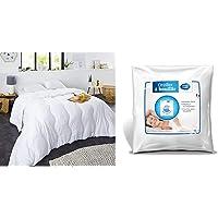Sweetnight - Couette Hiver 400g/m² | 140x200cm | Chaude et Enveloppante | Anti Acariens | Lavable & Oreiller à Bouillir…