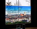 Fenster Wandbild München Fenster Aufkleber Fensterfolie Fenster Tattoo Glas Aufkleber Fenster Kunst Fenster Décor Fenster Dekoration, Maße: 21cm x 31cm