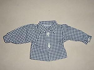 Camisa para muñecas Sturm 0925-2, diseño a Cuadros, Color Azul