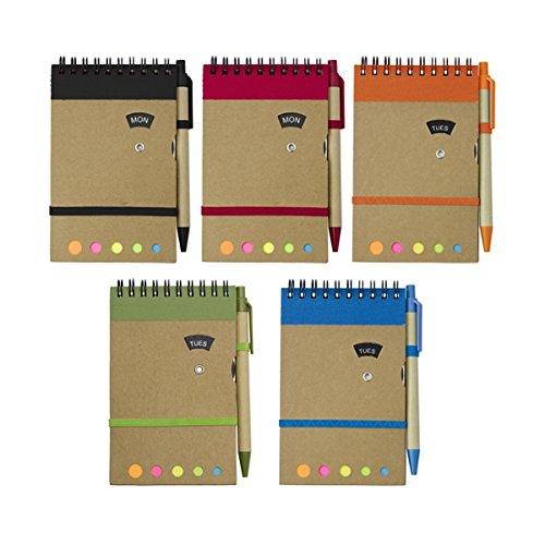 The Simon 2718NOTEBOOK, Mini Journal, Agenda, Copertina in Cartone naturale, a righe, Carta Riciclata, 10x 14,7x 1,1cm personalizzato/personalizzata NOTEBOOK per Business, scopi e altri promozionale Occasioni. Confezione da 50.