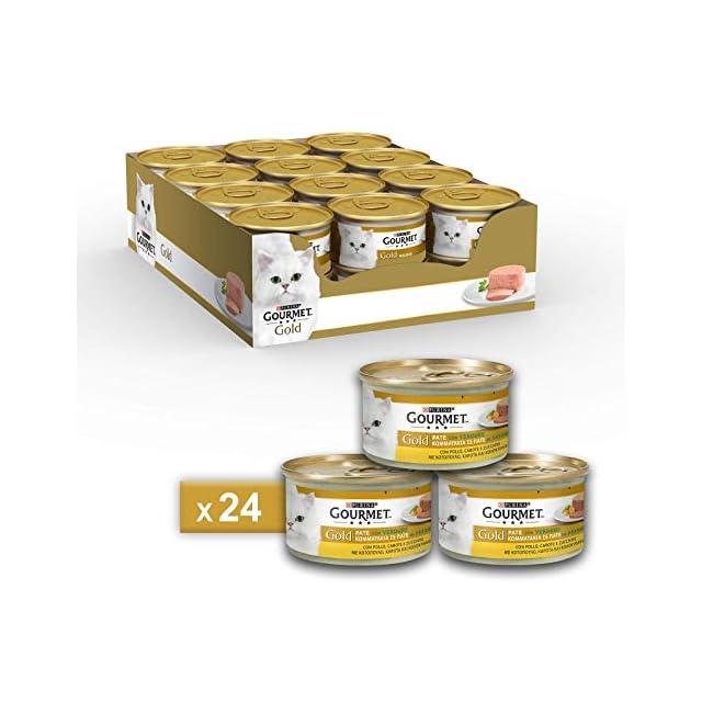 Gourmet purine Gold Humide Chat Terrine avec légumes, avec Poulet, Carottes et courgettes-24canettes de chacune 85g (Pack de 24x 85g)