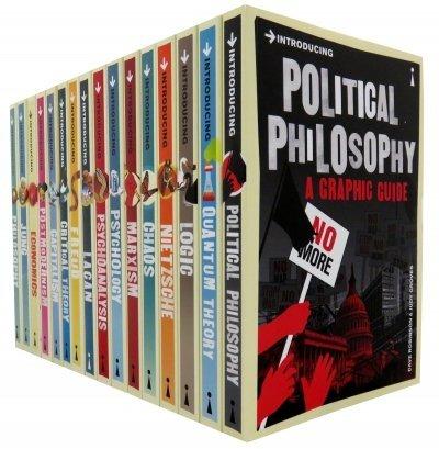 A Graphic Guide Introducing 16 Books Collection Set ( Introducing Logic, Chaos, Lacan, Postmodernism, Quantum Theory, Nietzsche, Critical Theory, Political Philosophy, Freud, Psycholo