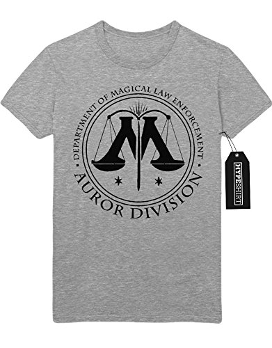 T-Shirt Harry Potter Fanartikel Auror Division Muggle LV Lord Voldemort Hogwarts Harry Potter und das verwunschene Kind the Cursed Child C999936 Grau
