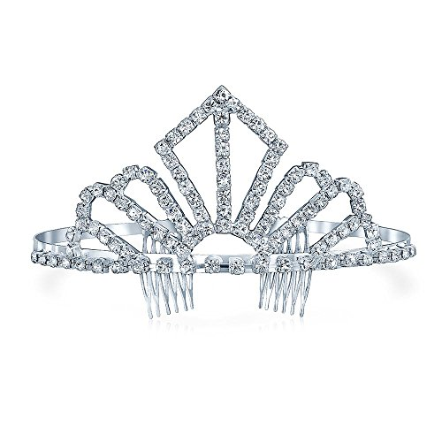 Bling Jewelry Gold plattiert Crystal Silver Screen Queen Bridal Tiara (Gold Queen's Tiara)