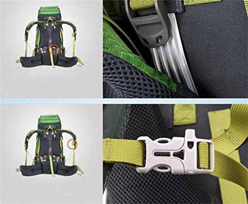 Rucksack Bergsteigen Taschen wasserdichten Outdoor-Männer und Frauen reisen Falten Rucksack Unterricht Wandern 65L Grün