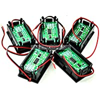 q-baihe 5x 2Draht 4,5–30V Eintopfen LED Digital Display Panel Voltmeter 3bit blau