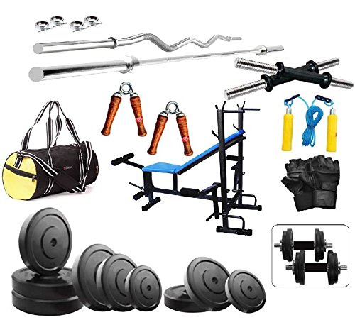 bodyfit 30kg set with 8-in-1 multi bench for home gym,gym bag Bodyfit 30Kg Set With 8-In-1 Multi Bench For Home Gym,Gym Bag 51m6mxmKNyL