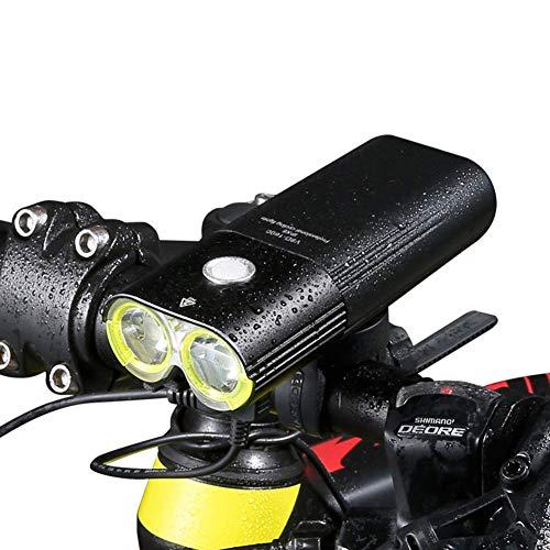Adoudou Bicicletta Luce Anti abbagliamento LED Impermeabile Comodo Clip 1600 Lumen 125 ° proiettore Luce di Sicurezza Interruttore di Controllo remoto 5000 mAh USB Ricaricabile riflesso rapido