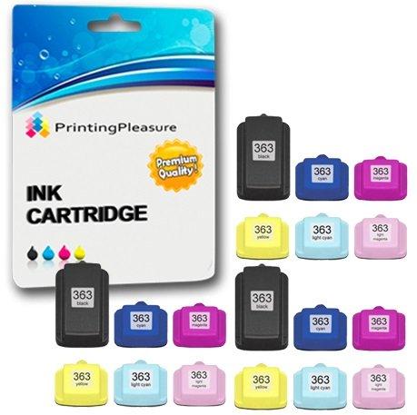 Printing Pleasure 18 XL Druckerpatronen für HP Photosmart 3110 3210 3210xi 3310 C5180 C6150 D6160 C6180 C6280 D7160 C7180 C7200 C7250 D7260 C7280 D7460 C8180 8250 | kompatibel zu HP 363 - Tinte 3210 Photosmart Hp
