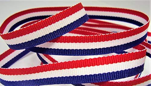 /Blau gestreift - 0,9 cm breit - 10 Meter - Haarschleifen und Patriotische Handwerk ()