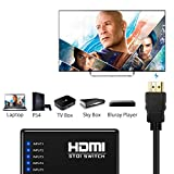 Neoteck HDMI Switcher 5 Ports HDMI Switcher 5 Input 1 Output 1080P 3D HDMI Splitter Box with IR Remote Control for PS3 Xbox 360 Sky Box Freesat Virgin Bluray Player DVD HDTV Projector Camcorder HTPC Laptop
