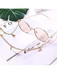 Motto.h - Cadenas de Gafas, Mango de Goma Ajustable, Material de aleación, Cualquier ocasión, San Valentín, cumpleaños, Fiesta Resistente
