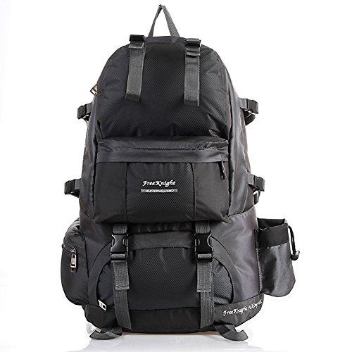 etach 50L Groß Kapazität Rucksack Outdoor Sport wasserdicht paar Bergsteigen Tasche schwarz