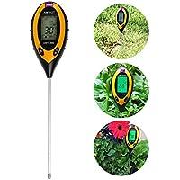 4in 1tester di umidità sensore Meter, LTC® Tester di umidità Monitor Tester, valore ph suolo, temperatura suolo e intensità della luce solare, Idrometro per Giardinaggio, Agricoltura, Uso Interno/Esterno