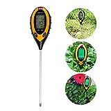 LTC ® Profi 4 in 1 LCD Digital Bodenmessgerät Bodentester PH Feuchtigkeit Sonnenlicht Temperatur Detektor für Gartenbau, Pflanzen Wachstum, Rasenpflege