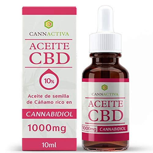 Cannactiva CBD - 10% - Aceite de cáñamo rico en CBD - 10ml - 1000mg