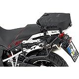 QBag Motorrad-Hecktasche Heck- / Sissybar- / Sturzbügeltasche, wasserdicht, Rollverschluss, Verstärkungsstreifen am Boden, 4 Doppel-D Gurte in D-Ringen, Schwarz, 10-17 Liter