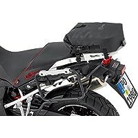 Bolsa de estribo QBag trasera para moto, 10–17litros, color negro