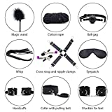 Set of 10, Fun for Couple, in Soft Leather Black Bandages Straps Under The Bed