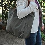 Wasserdichte Maxi-Tasche - Kaki - Shopping bag, handgefertigt in Wasserdichte stoff, mit abnehmbaren...