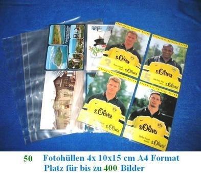 Kamera Kodak Alte (50 x SAFE FOTOHÜLLEN DIN A4 NR. 5471-50 - FORMAT 10 x 15 CM - PLATZ FÜR BIS ZU 400 BILDER - IDEAL FÜR FOTOS - URLAUBSBILDER - ALTE / NEUE POSTKARTEN - BANKNOTEN - UNIVERSAL LOCHUNG - DOKUMENTENECHT - TRANSPARENT - WEICHMACHERFREI)