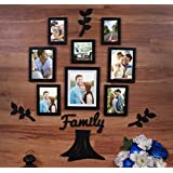 Art Street Family Tree Set Of Individual 8 Photo Frame With MDF Plaque - (3 Leaf ,1 Trunk And 1 Family)