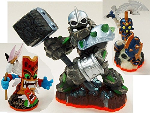 3 x NEW Skylanders Giants Figure Lot CRUSHER Chop Chop DOUBLE TROUBLE Activision by Skylanders