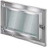 ACO MARKANT Stahlkellerfenster 1 Flügel ESG Sicherheitsglas mit Mauerranker, Stahlkellerfenster 1flg:80 x 40 cm