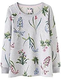 Joules Aylesham Womens Printed Crew Neck Sweatshirt - Grey MARL Botanical