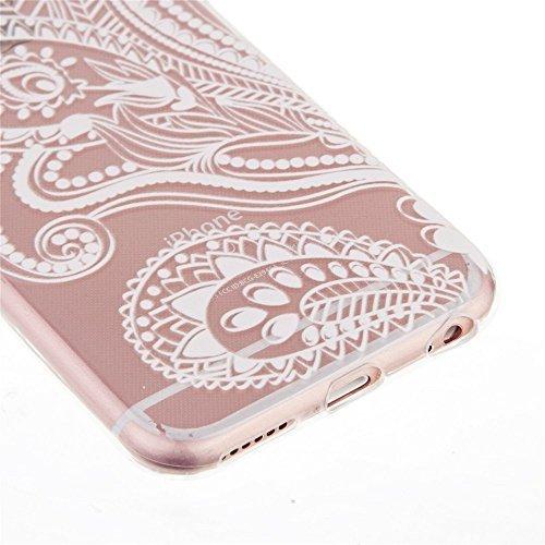 KSHOP Etui pour iphone 6/iphone 6s (4.7) Case Cover TPU en Souple Silicone Ultra Mince Shock Absorption Coque Transparente Bumper Modif Peint - frites M03