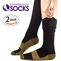 Kroo Kupfer Recovery Performance Medical Compression Socken Kniestrümpfe für Männer, Frauen, Krankenschwestern... preisvergleich bei billige-tabletten.eu