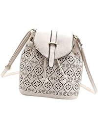 Phenovo Fashion PU Leather Hobo Cross Body Messenger Bag Handbags Womens Satchel - White
