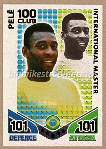 MATCH ATTAX WORLD CUP 2010 PELE 100 VEREIN KARTE BRAZILIEN HUNDRED -