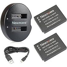 Newmowa EN-EL12 Batería de repuesto (2-Pack) y Kit de Cargador Doble para Nikon EN-EL12 y Nikon Coolpix AW100 AW100s AW110 AW110s AW120 P330 P340 S310 S70 S610 S620 S630 S640 S800c S1000pj S1100pj S1200pj