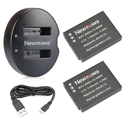 Newmowa Ersatz Akku EN-EL12 (2er Pack) und