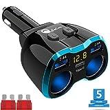 Chargeur de Voiture USB Allume Cigare Adaptateur Multi 3Socket répartiteur d'alimentation Prise de Courant Chargeur de Voiture