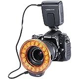 Neewer® FC-110 18 Super brillante LED flash Macro Ring anillo Flash & luz para Canon 5D MarkIII 5D MarkII 650D/T4i 600D/T3i 550D/T2i 1100D/T3 60D 7D, Nikon D7000, D3200, D3100, D5100,D5000,Olympus, Pentax SLR Camaras (Cabrá Lentes 52,55,58,62,67,72,77mm)