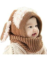 Babybekleidung Hüte & Mützen Longra Niedlich Winter Baby Kinder Mädchen Jungen Warm Woll Haube Kapuze Schal Mützen Hüte