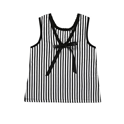 Oyedens Streifen Mädchen Kleider Hochzeit, Prinzessin Kleid Mädchen Kinder Gestreiftes Bogenkleid Sommerkleid Baby Mädchen (Tank Girl Kostüm Für Verkauf)