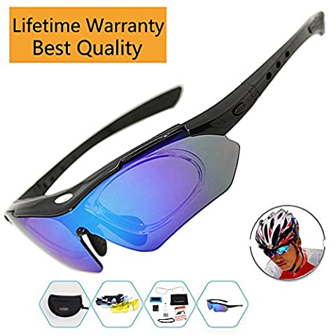 Cycling Glasses Men Sports Sunglasses Polarized with 5 Interchangeable Lenses