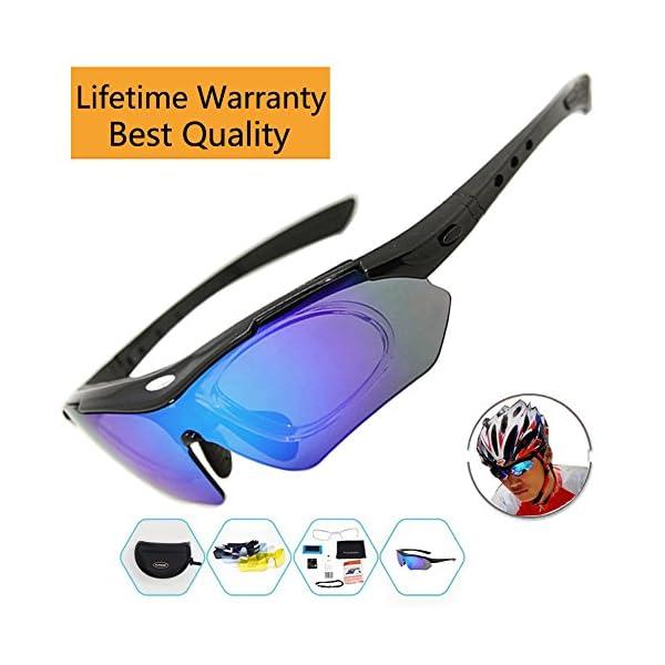 4fde281d4a Ciclismo gafas hombres deportes gafas de sol polarizadas con 5 ...