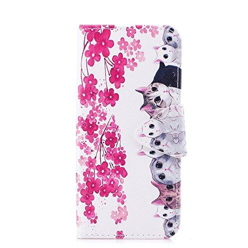 Ecoway Para Samsung Galaxy S8 Plus Funda, Serie pintada Caja del teléfono de moda (Gatos) PU Leather Cubierta , Función de Soporte Billetera con Tapa para Tarjetas Soporte para Teléfono Compatible Samsung Galaxy S8 Plus.