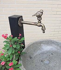 Oiseau décoratif en laiton robinet d'extérieur en laiton avec un connecteur