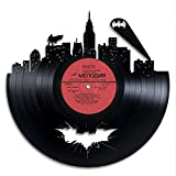 Batman Art Vintage Disque Vinyle Design Art Mural Super-héros Party Supplies DC Comics Décoration Murale en Vinyle Dark Knight Collection